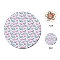 Cute Pastel Butterflies Playing Cards (round)  by tarastyle