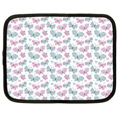 Cute Pastel Butterflies Netbook Case (xxl)  by tarastyle