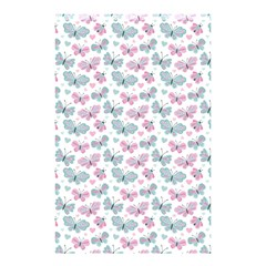Cute Pastel Butterflies Shower Curtain 48  X 72  (small)  by tarastyle