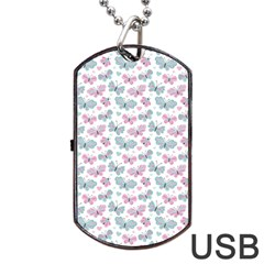 Cute Pastel Butterflies Dog Tag Usb Flash (two Sides) by tarastyle
