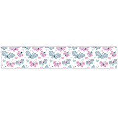 Cute Pastel Butterflies Flano Scarf (large)