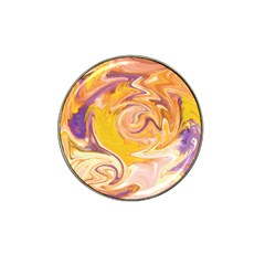 Yellow Marble Hat Clip Ball Marker (4 Pack) by tarastyle