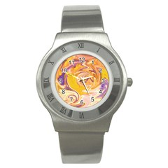 Yellow Marble Stainless Steel Watch by tarastyle