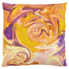 Yellow Marble Large Cushion Case (one Side) by tarastyle