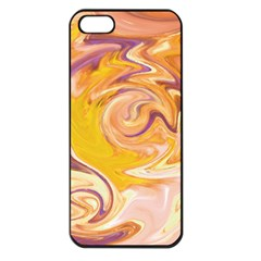 Yellow Marble Apple Iphone 5 Seamless Case (black)