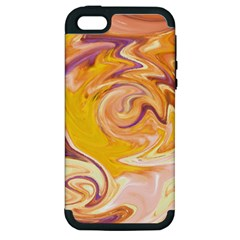 Yellow Marble Apple Iphone 5 Hardshell Case (pc+silicone)