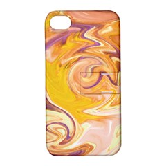 Yellow Marble Apple Iphone 4/4s Hardshell Case With Stand