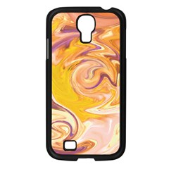 Yellow Marble Samsung Galaxy S4 I9500/ I9505 Case (black)