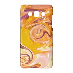 Yellow Marble Samsung Galaxy A5 Hardshell Case  by tarastyle