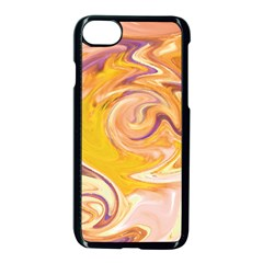 Yellow Marble Apple Iphone 7 Seamless Case (black) by tarastyle