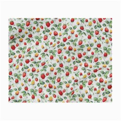 Strawberry Pattern Small Glasses Cloth by Valentinaart