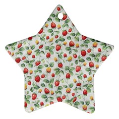 Strawberry Pattern Star Ornament (two Sides) by Valentinaart