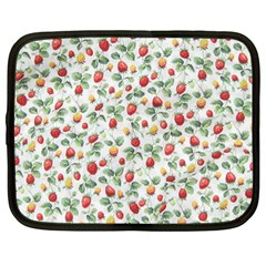 Strawberry Pattern Netbook Case (large) by Valentinaart