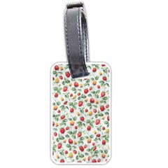 Strawberry Pattern Luggage Tags (one Side)  by Valentinaart