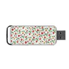 Strawberry Pattern Portable Usb Flash (one Side) by Valentinaart