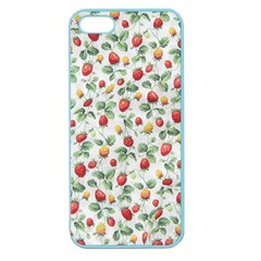 Strawberry Pattern Apple Seamless Iphone 5 Case (color) by Valentinaart