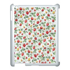 Strawberry Pattern Apple Ipad 3/4 Case (white) by Valentinaart