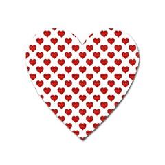 Emoji Heart Shape Drawing Pattern Heart Magnet by dflcprints