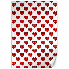 Emoji Heart Shape Drawing Pattern Canvas 12  X 18   by dflcprints