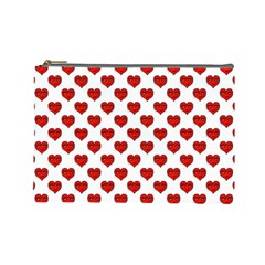 Emoji Heart Shape Drawing Pattern Cosmetic Bag (large)  by dflcprints