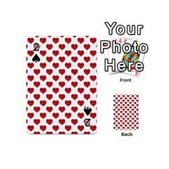 Emoji Heart Shape Drawing Pattern Playing Cards 54 (mini)  by dflcprints