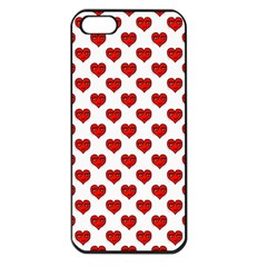 Emoji Heart Character Drawing  Apple Iphone 5 Seamless Case (black) by dflcprints