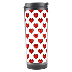 Emoji Heart Character Drawing  Travel Tumbler by dflcprints