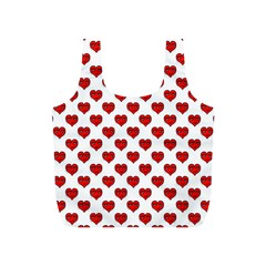 Emoji Heart Character Drawing  Full Print Recycle Bags (s)  by dflcprints