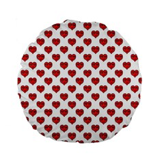 Emoji Heart Character Drawing  Standard 15  Premium Flano Round Cushions by dflcprints