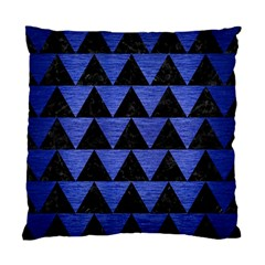 Triangle2 Black Marble & Blue Brushed Metal Standard Cushion Case (one Side) by trendistuff