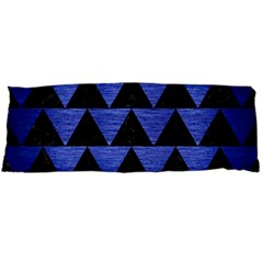 Triangle2 Black Marble & Blue Brushed Metal Body Pillow Case Dakimakura (two Sides) by trendistuff