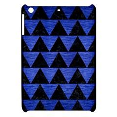 Triangle2 Black Marble & Blue Brushed Metal Apple Ipad Mini Hardshell Case by trendistuff