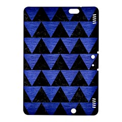 Triangle2 Black Marble & Blue Brushed Metal Kindle Fire Hdx 8 9  Hardshell Case by trendistuff