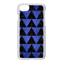 Triangle2 Black Marble & Blue Brushed Metal Apple Iphone 7 Seamless Case (white) by trendistuff