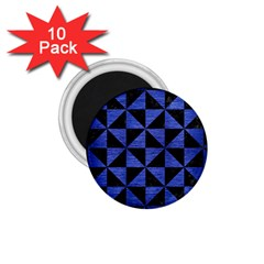 Triangle1 Black Marble & Blue Brushed Metal 1 75  Magnet (10 Pack)  by trendistuff