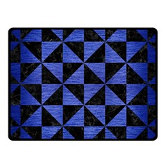 Triangle1 Black Marble & Blue Brushed Metal Fleece Blanket (small) by trendistuff
