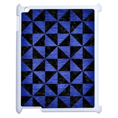 Triangle1 Black Marble & Blue Brushed Metal Apple Ipad 2 Case (white) by trendistuff