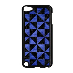 Triangle1 Black Marble & Blue Brushed Metal Apple Ipod Touch 5 Case (black) by trendistuff