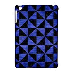 Triangle1 Black Marble & Blue Brushed Metal Apple Ipad Mini Hardshell Case (compatible With Smart Cover) by trendistuff