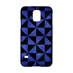 Triangle1 Black Marble & Blue Brushed Metal Samsung Galaxy S5 Hardshell Case  by trendistuff