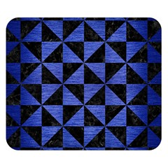 Triangle1 Black Marble & Blue Brushed Metal Double Sided Flano Blanket (small) by trendistuff