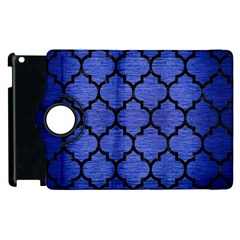 Tile1 Black Marble & Blue Brushed Metal (r) Apple Ipad 2 Flip 360 Case by trendistuff
