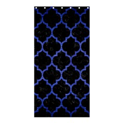 Tile1 Black Marble & Blue Brushed Metal Shower Curtain 36  X 72  (stall) by trendistuff