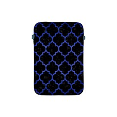 Tile1 Black Marble & Blue Brushed Metal Apple Ipad Mini Protective Soft Case by trendistuff