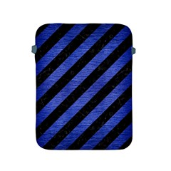 Stripes3 Black Marble & Blue Brushed Metal Apple Ipad 2/3/4 Protective Soft Case by trendistuff