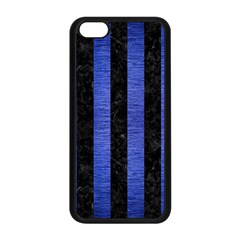 Stripes1 Black Marble & Blue Brushed Metal Apple Iphone 5c Seamless Case (black) by trendistuff