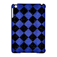 Square2 Black Marble & Blue Brushed Metal Apple Ipad Mini Hardshell Case (compatible With Smart Cover) by trendistuff