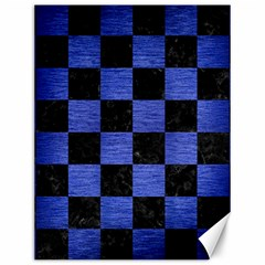 Square1 Black Marble & Blue Brushed Metal Canvas 12  X 16  by trendistuff