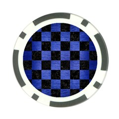 Square1 Black Marble & Blue Brushed Metal Poker Chip Card Guard (10 Pack) by trendistuff