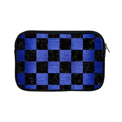 Square1 Black Marble & Blue Brushed Metal Apple Ipad Mini Zipper Case by trendistuff